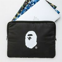 A Bathing Ape Bape Japan Black Ape Logo Organizer Laptop Bag Pouch Storage