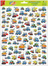 A4 Sticker Sheet Bulldozers & Trucks for Scrapbooking & Cardmaking Over 60 Image