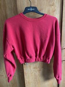 Bo + Tee Self Love Cropped Sweatshirt In Red XS