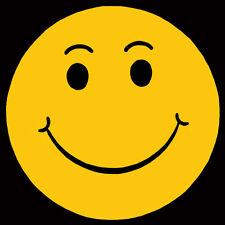 CAR DEALER 4 dozen SMILE HAPPY FACE W/ Eyebrows  WINDSHIELD STICKER DECAL