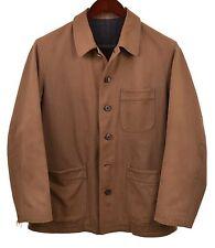 Yohji Yamamoto Made in JAPAN Brown Distressed Canvas Cotton Twill Jacket Coat M