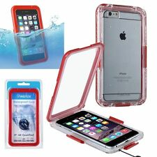 Cell Phone 6 Plus Clip-on Snap-in Waterproof Case, Red Insten IP-68