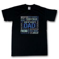 Best Dad Ever Shirt schwarz Funshirt Geburtstag Vatertag 100% Cotton S-XXXXXL