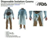 Disposable Isolation Gowns Medical Dental PPE - Blue - 20 Per Pack - USA seller
