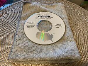 Nissan Infiniti Navigation Map Data CD DVD Disc