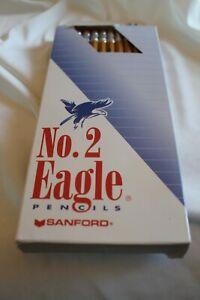Sanford Eagle No 2 Wooden Pencils Vtg 1998 24-ct Box USA Made Newell Homeschool