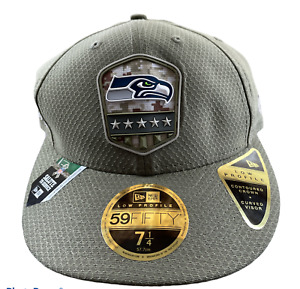 New Era NFL Seattle Seahawks Salute To Service 59Fifty Fitted Hat (7 1/4)