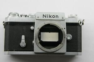 Nikon F SN 6553545 1964 35mm Body Only w/Focus Screen & Good Shutter USED K02