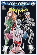 Batman #1 Forbidden Planet Variant Signed w/Coa by Tom King 2016 Vf/Nm Dc Pwc