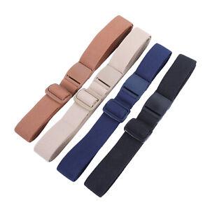 Adjustable Women's Invisible Waist Belts Elastic No Show Web Buckle Belt Band
