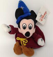 Vintage Walt Disney World Mickey Mouse Fantasia Plush Beanie Soft Toy TAG (F1)