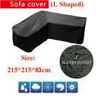 Waterproof Garden Rattan Corner Furniture Cover Outdoor Sofa Protect L Shape Uk