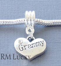 Silver tone Pendant  Dangle GRAMMY Fit European Charm Bracelet and Necklace C109