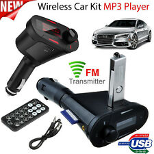 Wireless Car Kit SD Mp3 Player FM Transmitter Radio Kit USB Remote USB SD Card
