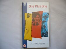 ONE PLUS ONE aka Sympathy for the Devil VHS PAL SMALL BOX TIME CODE PROMO COPY