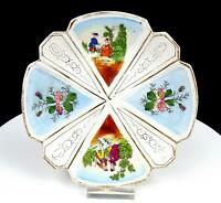 """OLD PARIS PORCELAIN COURTING COUPLE AND FLORAL 7 3/8"""" PLATE"""