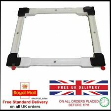 Heavy Duty Wheeled White Square Washing Machine Appliance Rollers Trolley