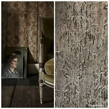 SWATCH Designer Velvet Chenille Burnout Fabric - Antique Olive Green
