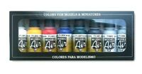 AV Vallejo Basic Colours Acrylic Colour Set For Models