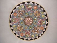Persian Style Decorative Handmade MinaKari Pottery Enamelled Wall Hanging Plate
