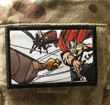 The Mighty Thor Morale Patch Military Tactical Army Flag USA Hook Badge