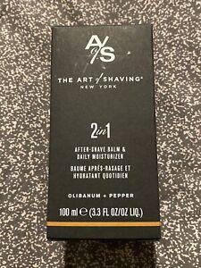 The Art Of Shaving 2 In 1 After-Shave Balm & - Olibanum + Pepper 3.3oz NIB