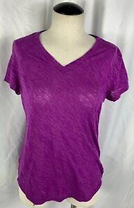 Women's TEK GEAR DryTek Purple  Short Sleeve Active Wear T-Shirt S Small