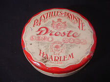 Old Vtg Pastilles-Droste Droste Haarlem Holland Chocolate Tin Container