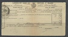 B13E-DOCUMENTO FISCAL  MURCIA CARAVACA IMPUESTOS TASAS.MORATALLA.1902