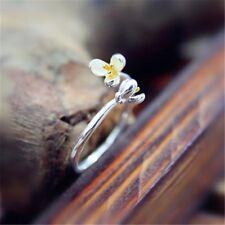 925 Sterlingsilber Ring Blume Blüte Blumen Verstellbar Silber Gold Filigran Boho