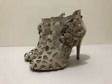ALANNAH HILL ANKLE BOOTS LEATHER ~ SZ 10 ~ GREAT COND CUT OUT STYLE SUEDE HEELS