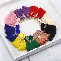 Women Bohemian Long Tassel Fringe Boho Drop Dangle Ear Stud Earrings Jewelry#