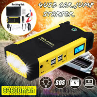82800mAh Car Jump Starter Booster LED 4USB Charger Battery Power Bank  ! # Q