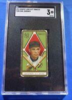 EARL GARDNER 1911 Honest Long Cut Cigarettes T205 SGC Graded 3 NY Yankees