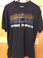 Pink Floyd Dark Side of the Moon Style Black Cotton Retro Adult Rock T-shirt XL