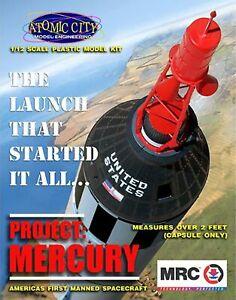 MRC 62001 1/12  - NASA Mercury Space Capsule over 2' tall  Plastic model kit