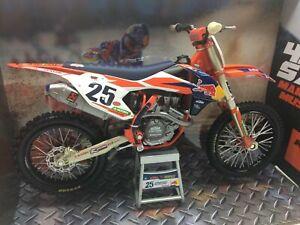 NEWRAY 1:10 KTM SXF 450 Marvin Musquin Motocross bike toy model