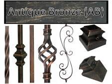 Antique Bronze (AB) Metal spindles Iron stair parts Iron balusters basket twist