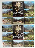 2x Zillertal Österreich Tirol Postkarten mit Edelweiß Inlet Verlag Milz Reutte