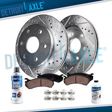 Front DRILLED Brake Rotors + Brake Ceramic Pads Ford F-150 Rotor & Brake Pad
