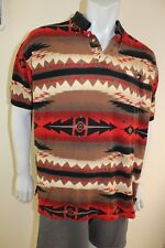 Ely Cattleman Large Indian pattern pocket polo shirt