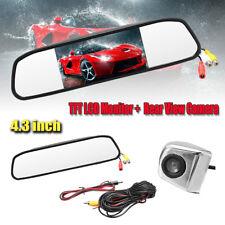 4.3'' Car Rear View HD Display Monitor Mirror Dash DVR Reversing Cam Camera Kit