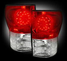 2007-13 Toyota Tundra Rear Brake & Reverse Red Taillights w/ Brake LED Bulbs