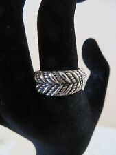 STERLING SILVER FILIGREE ETCHED BAND RING SIZE 7