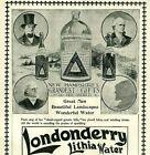 1897 LONDONDERRY Quack Lithia Water Apothecary Medicine ORIGINAL Print Ad 4725