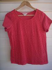 Capture Women's Pink Short-Sleeve Top - Size 10