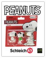 Schleich - Peanuts - Snoopy - 3 insieme di Figure - Nuovo/Originale