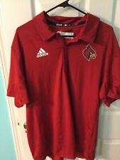 New listing Adidas Louisville Cardinals Game Mode Polo  Red Shirt Black L Logo XL New