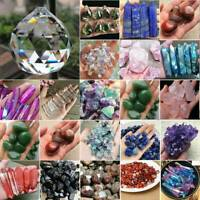 Lots Natural Quartz Gemstone Sphere Crystal Reiki Healing Ball Stone Home Decor