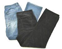 Lot of 2 Christopher & Banks Women's 14 Medium Wash Jeans & Black Velour Pants